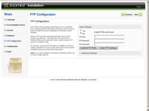 Setting FTP